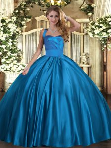 Sleeveless Ruching Lace Up Ball Gown Prom Dress