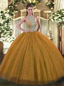 Inexpensive Sleeveless Beading Lace Up Sweet 16 Quinceanera Dress