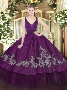 Clearance Sleeveless Zipper Floor Length Beading and Embroidery Ball Gown Prom Dress