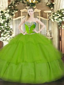 Classical Floor Length Ball Gowns Sleeveless Sweet 16 Quinceanera Dress Lace Up