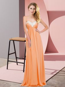 Elegant Orange Red Prom Dress Prom and Party with Ruching Sweetheart Sleeveless Lace Up