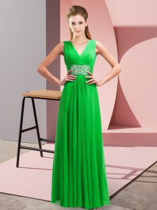 Top Selling Sleeveless Beading and Ruching Side Zipper Homecoming Dress