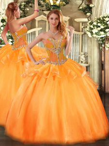 Inexpensive Tulle Sleeveless Floor Length Sweet 16 Dresses and Beading
