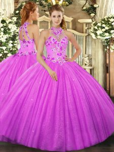 Gorgeous Sleeveless Beading and Embroidery Lace Up Quinceanera Dresses