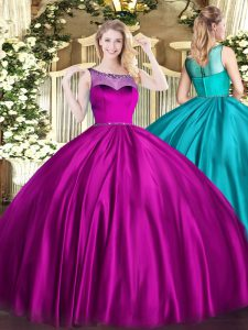 Excellent Sleeveless Beading Zipper Vestidos de Quinceanera