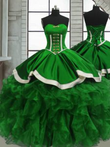 Deluxe Floor Length Ball Gowns Sleeveless Quinceanera Dress Lace Up