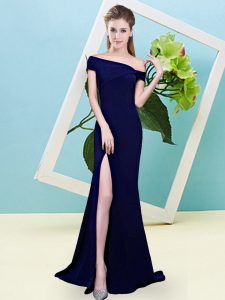 Luxury Sleeveless Zipper Floor Length Ruching Wedding Party Dress