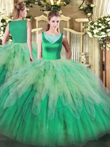 Exceptional Multi-color Sleeveless Organza Backless Vestidos de Quinceanera for Sweet 16 and Quinceanera