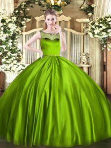 Sweet Sleeveless Zipper Floor Length Beading Sweet 16 Quinceanera Dress