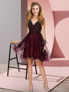 Sleeveless Appliques and Ruffles Backless Court Dresses for Sweet 16