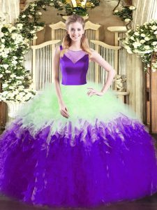 Floor Length Ball Gowns Sleeveless Multi-color Sweet 16 Dress Side Zipper