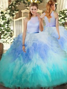 Hot Selling Floor Length Ball Gowns Sleeveless Multi-color Quinceanera Gown Backless
