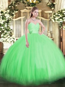 Sleeveless Lace Up Floor Length Beading Sweet 16 Dresses