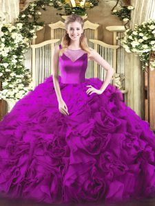 Sumptuous Sleeveless Beading Side Zipper Quinceanera Gown