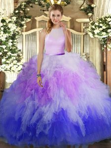 Sleeveless Ruffles Backless Vestidos de Quinceanera