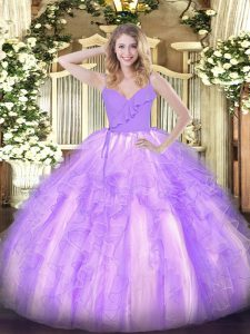 Sleeveless Ruffles Zipper Vestidos de Quinceanera