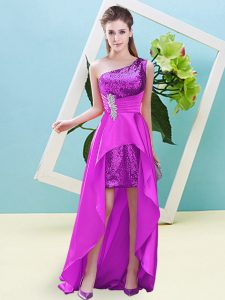 Exquisite Sleeveless Beading and Sequins Lace Up Prom Dress