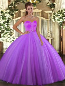 Simple Eggplant Purple Sleeveless Beading Floor Length Sweet 16 Dresses