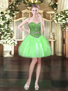 Best Selling Mini Length Lace Up Prom Party Dress for Prom and Party with Beading and Ruffles