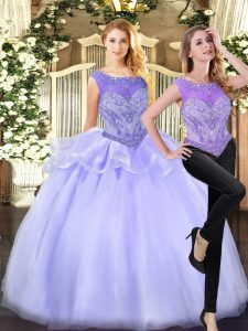 Sleeveless Beading Zipper Quinceanera Gowns