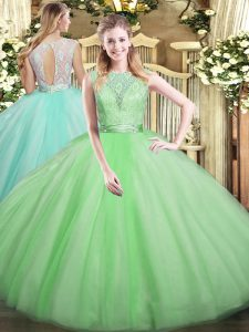 Sumptuous Sleeveless Lace Backless Quinceanera Dresses