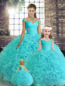 Beauteous Sleeveless Beading Lace Up 15 Quinceanera Dress
