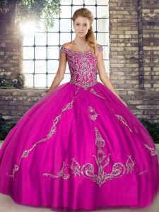 Comfortable Sleeveless Lace Up Floor Length Beading and Embroidery 15th Birthday Dress