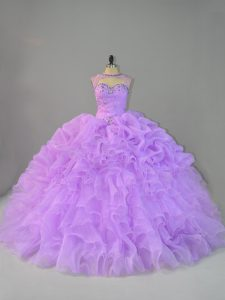 Enchanting Lavender Quinceanera Dress Scoop Sleeveless Lace Up