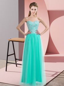 Attractive Sleeveless Beading Lace Up Homecoming Dress