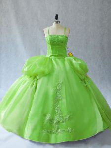 Sleeveless Appliques Floor Length Vestidos de Quinceanera