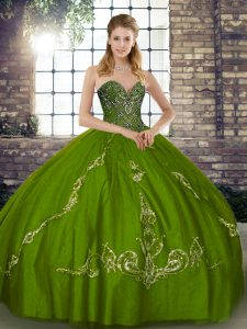 Captivating Sleeveless Beading and Embroidery Lace Up Quinceanera Gowns