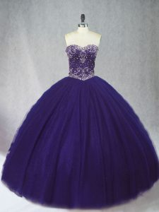 Enchanting Sleeveless Lace Up Floor Length Beading Quinceanera Dresses