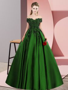 Green Sleeveless Lace Floor Length Quinceanera Dress