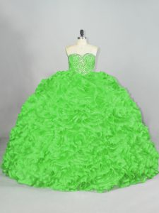Classical Sleeveless Court Train Beading and Ruffles 15 Quinceanera Dress