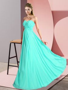 Sleeveless Ruching Lace Up Prom Dress