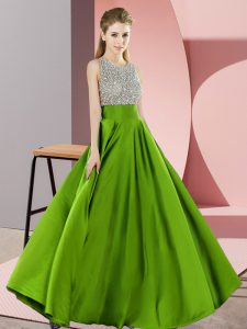 Sumptuous Sleeveless Beading Floor Length Runway Inspired Dress