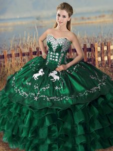 Noble Floor Length Ball Gowns Sleeveless Green Ball Gown Prom Dress Lace Up
