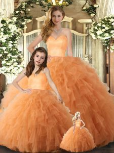 Sleeveless Lace Up Floor Length Ruffles Quinceanera Gowns