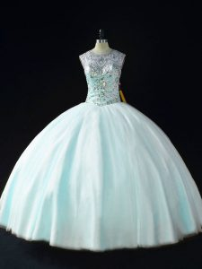 Modern Sleeveless Beading Lace Up 15 Quinceanera Dress