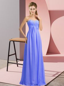 Fitting Empire Celebrity Dress Lavender Sweetheart Chiffon Sleeveless Floor Length Lace Up