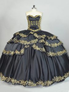 Sleeveless Embroidery Lace Up 15th Birthday Dress