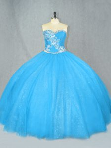 Gorgeous Sleeveless Beading Lace Up Sweet 16 Dresses