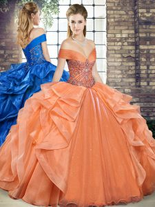 Sleeveless Lace Up Floor Length Beading and Ruffles Quinceanera Dresses