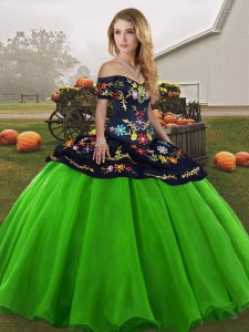 Colorful Floor Length Ball Gowns Sleeveless Green Sweet 16 Dress Lace Up