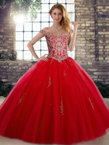 Top Selling Sleeveless Beading Lace Up Quince Ball Gowns