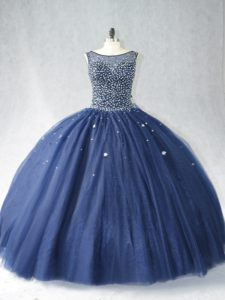 Sleeveless Zipper Beading Quinceanera Gown