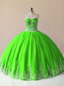 Sleeveless Tulle Lace Up Vestidos de Quinceanera for Sweet 16 and Quinceanera