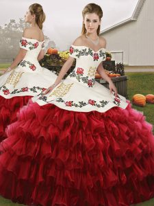 Floor Length Ball Gowns Sleeveless Wine Red Quinceanera Gown Lace Up