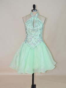 Perfect Sleeveless Beading Lace Up Prom Party Dress