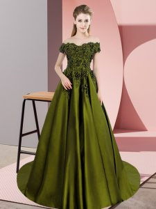 Graceful Floor Length A-line Sleeveless Olive Green Vestidos de Quinceanera Zipper